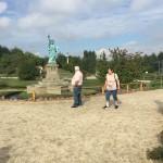 Werner und Luise Meyer bei der Freiheitsstatue